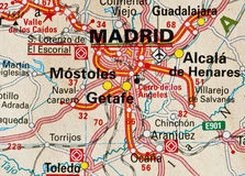 Carte de Madrid Photographie stock libre de droits
