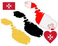 Carte de Malte Photo libre de droits