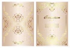 Carte de mandala de fond de cru avec les ornements d'or de dentelle et les ?l?ments d?coratifs floraux d'art d?co illustration de vecteur