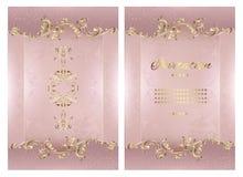 Carte de mandala de fond de cru avec les ornements d'or de dentelle et les ?l?ments d?coratifs floraux d'art d?co illustration stock