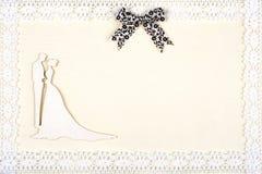 Carte de mariage élégante Photos stock