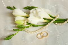 Carte de mariage Photos libres de droits