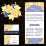 Carte de mariage Images stock