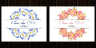 Carte de mariage Photo stock