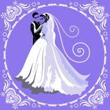 Carte de mariage 4 Photos libres de droits