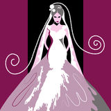Carte de mariage 9 Photos libres de droits