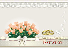 Carte de mariage Image stock