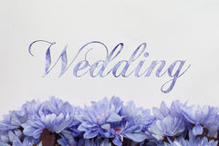 Carte de mariage avec la conception de fleurs Image stock