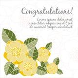 Carte de mariage avec les éléments floraux Photo stock