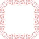 Carte de mariage d'invitation avec le cadre rose de croquis Images stock
