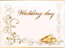 Carte de mariage de cru Photo stock