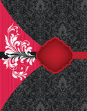 Carte de mariage rouge et noire Photos libres de droits