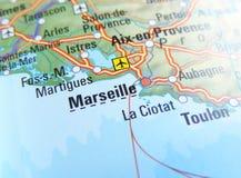 Carte de Marseille Image stock