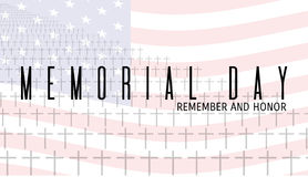 Carte de Memorial Day illustration de vecteur