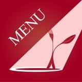 Carte de menu Image stock