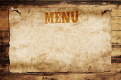 Carte de menu Images stock