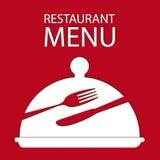 Carte de menu de restaurant Images libres de droits
