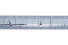 Carte de mer avec le film Photo libre de droits