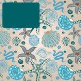 Carte de message de paradis de mer Photos stock