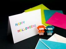Carte de message pour votre famille et amis ; Halloween Image stock