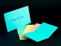 Carte de message pour votre famille et amis ; Heureux taillez l'année Photos libres de droits