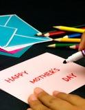Carte de message pour votre famille et amis ; Jour heureux du ` s de mère Images stock
