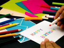 Carte de message pour votre famille et amis ; Joyeux anniversaire Image libre de droits