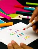 Carte de message pour votre famille et amis ; Un cadeau pour vous Photo stock
