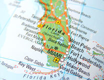 Carte de Miami Photo stock