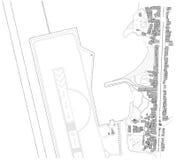 Carte de modèle de ville Image libre de droits