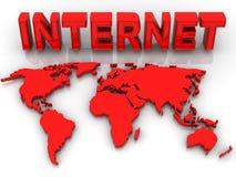 Carte de monde Photos libres de droits