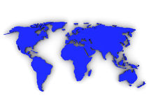 Carte de monde Photo stock