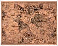 Carte de monde antique Image stock