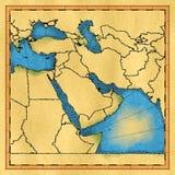 Carte de Moyen-Orient illustration stock