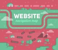 Carte de navigation de site Web Photographie stock libre de droits