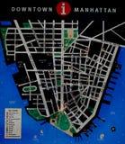 Carte de New York Photos stock