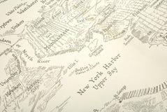 Carte de New York Image stock