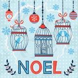 Carte de Noël élégante Image libre de droits