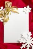 Carte de Noël Photographie stock