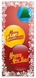 Carte de Noël 4 Photos libres de droits