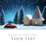 Carte de Noël Photos stock