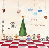 Carte de Noël Photos libres de droits