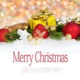Carte de Noël 7a Images stock