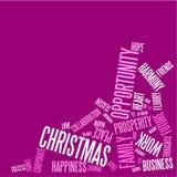 Carte de Noël abstraite avec des mots de saison illustration de vecteur