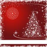 Carte de Noël avec des étoiles et des flocons de neige illustration libre de droits
