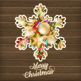 Carte de Noël avec des babioles ENV 10 Image libre de droits