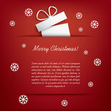 Carte de Noël avec des cadeaux de Noël Image libre de droits