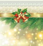 Carte de Noël avec des cloches Image libre de droits