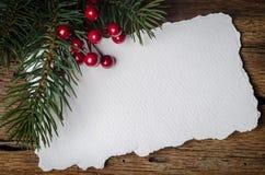 Carte de Noël avec des décorations Photos libres de droits