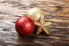 Carte de Noël avec des jouets Images libres de droits